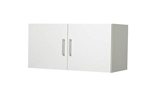 WILMES Aufsatz und Hängeschrank Ronny, 2 Türen, Weiß Dekor