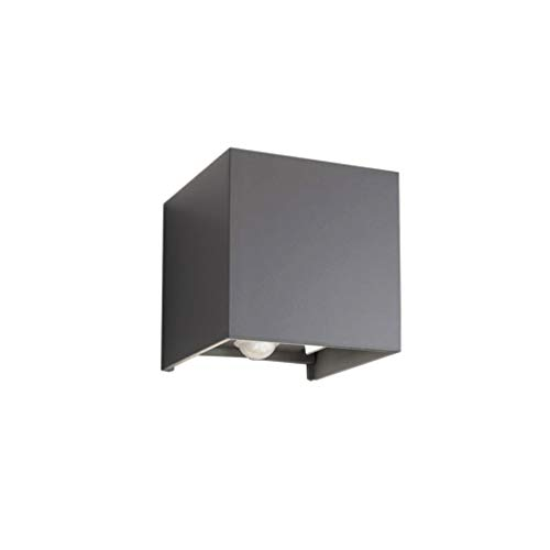 Klighten LED Wandleuchte mit Bewegungsmelder, 12W Wandbeleuchtung mit Einstellbar Abstrahlwinkel IP 65 Wasserdichte Außenwandleuchten Innen/Aussen Wandlampe, Natürliche Weiße,Dunkelgrau