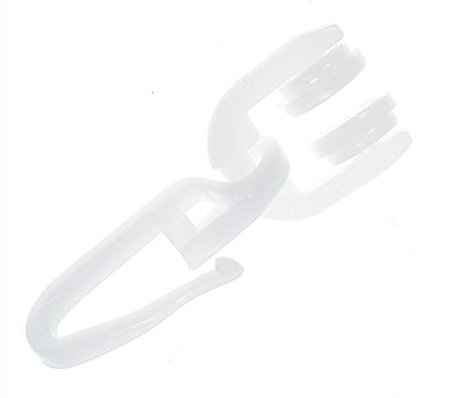 GARIMO Gardinenröllchen T-Schiene T-Rollen mit Faltenhaken 100 Stück
