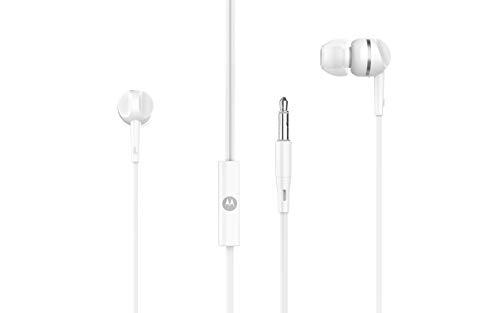 Fone de Ouvido Estéreo Pace 105 Intra-Auricular com Microfone, Motorola, Branco, Tamanho Único