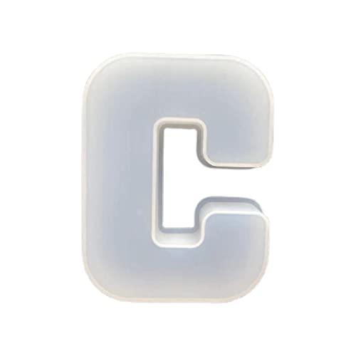 Unknows, stampi per fusione in resina, 26 lettere dell'alfabeto, per gioielli fai da te, per realizzare ornamenti in resina, stampi in silicone per gioielli