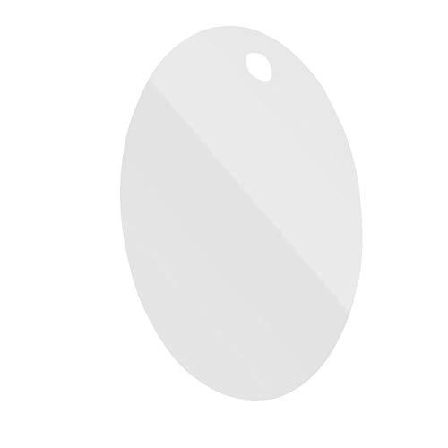 OUNONA Anti-Fog Nebelfreie Dusche Spiegel Rasierspiegel Einfach zu Reinigen Badezimmer Waschraum Aufhängen Spiegel (ovale Form)