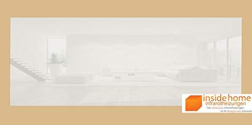 Infrarotheizung Glas rahmenlos weiß, 250 Watt - 90 x 35 x 2,5 cm