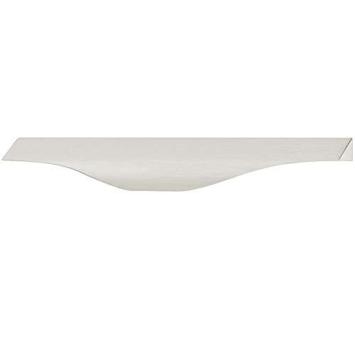 Gedotec H2112 Handgreeplijst voor dressoir, bakgreep, universeel onderkast-handvat voor vitrine - aluminium roestvrij stalen look | 200 x 38 x BA 128 mm | voor slaapkamerkast, 1 stuk