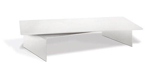 Meliconi 469001rotob Ridge M TV de Plato Giratorio con Espacio para A/V de Dispositivos (para televisores y monitores, 55x 30cm, Cristal de Seguridad), Color Blanco