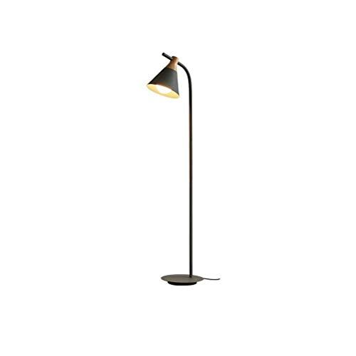 COOLSHOPY el Norte de Europa Nordic Simple Creativo E27 de Madera Lámpara de pie Moderna Caliente Dormitorio de la lámpara de Noche Estudio Gris Lámpara de 132x20cm 0706P Lámparas de pie