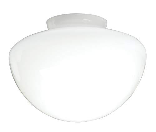 Westinghouse Lighting Westinghouse Lampenschirm aus satiniertem Glas, Pilzform, weiß, 17.78 x 17.78 x 12.28 cm