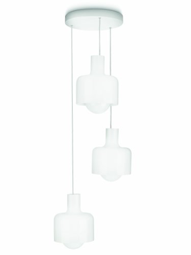 Philips myLiving ES-Pendelleuchte Ravan 3-flammig 20 W, opalglas/weiß 409313116