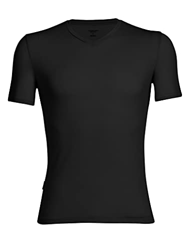 Icebreaker Mens Anatomica SS V Tshirt Homme Black/Monsoon FR : S (Taille Fabricant : S)