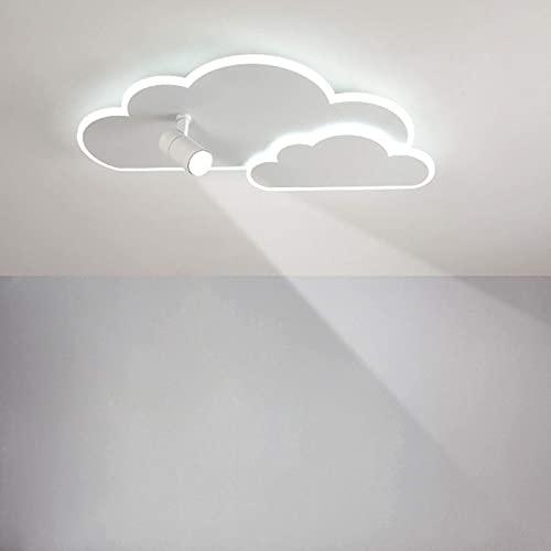 FACAZ Modern Minimalist LED Ceiling Light, Creative Cloud Shape Ceiling Lamp with Adjustable Spotlights for Bedroom, Children's Room, 28W/ 36W,White Light,40cm