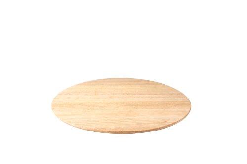 Continenta Drehplatte aus Gummibaumholz, Servierplatte, Drehbrett, Drehteller, Käseplatte, Größe: Ø 46 x 3,5 cm