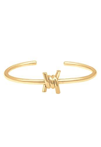 Elli Armband Damen Armreif Knoten Blogger Trend in 925 Sterling Silber vergoldet