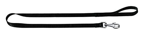 Ferplast 75360917 Club G25/120 Guinzaglio per Cani in Nylon con Moschettone Anti Attorcigliamento, 25 mm x L 120 cm, Nero
