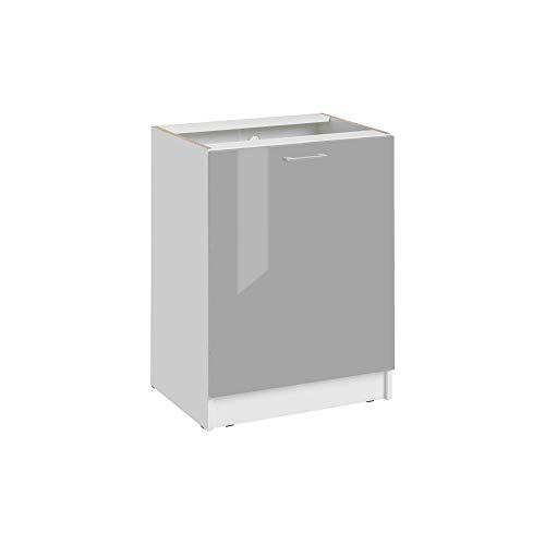 Cuisineandcie - Façade pour lave-vaisselle tout intégrable - L 60 cm - gris brillant