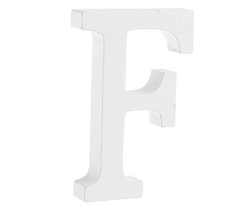 YUNA Letras A-Z retro de madera para manualidades, decoración para casa, cafetería, ropa, tienda, fiesta de boda, blanco, altura de 8 cm, madera, blanco, grande (F)