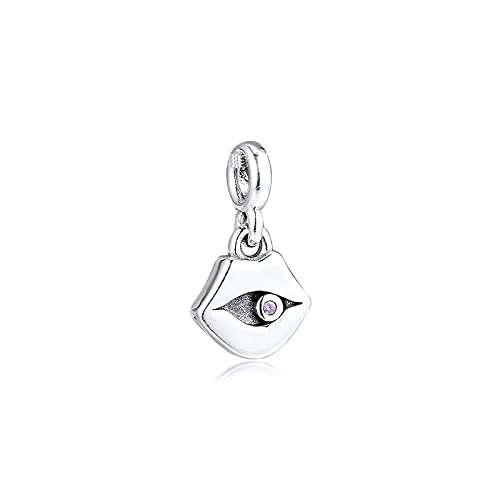 Pandora 925 Colgantes de plata esterlina Diy Fit Me Pulseras Mis labios cuelgan el encanto Micro Perlas de orificios pequeños para hacer joyas Regalo Kralen