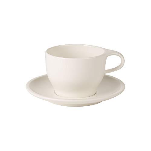 Villeroy & Boch Coffee Passion Cappuccino-Set, 2-teilig, Premium Porzellan, Weiß