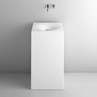 Bette Art Waschtisch Monolith ohne Hahnloch, A183 600 x 400 mm, Farbe: Weiß