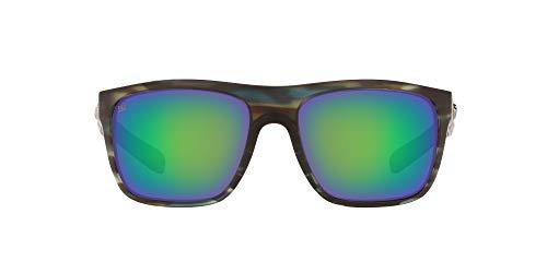 Price comparison product image Costa Del Mar Men's Broadbill Square Sunglasses,  Matte Reef / Green Mirrored Polarized,  61 mm