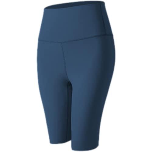 Fainash Pantalones Cortos de Yoga para Fitness con Personalidad para Mujer, Pantalones Cortos Deportivos para Correr de Cintura Alta Ajustados Sexis Ajustados a la Moda S
