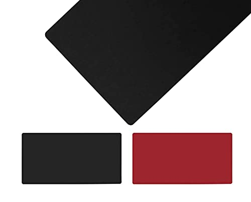 LYQCZ Tapete Escritorio,Alfombrilla De RatóN Extendida Mousepad Tapete De Escritura Estera Oficina Alfombrilla De Escritorio Protector Escritorio,Doble Cara,Negro+Rojo(Size:110x120cm/43.31x47.24in)
