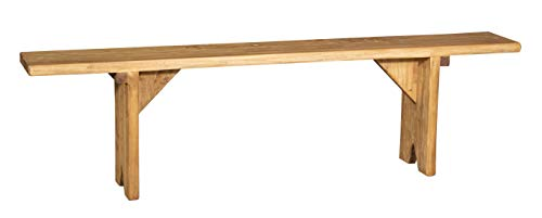 Biscottini Banc en bois massif de tilleul finition naturelle, fabriqué en Italie