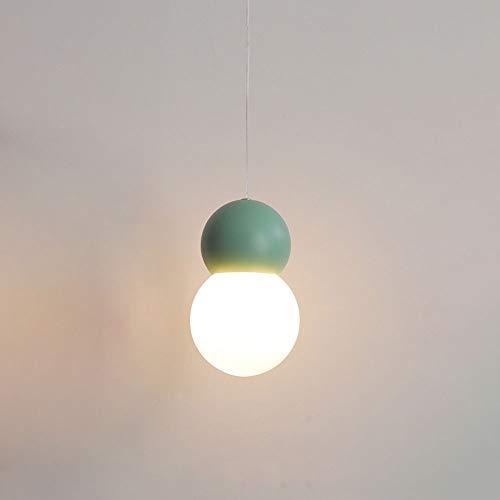 Nordic LED Colgante Luz de vidrio Globo CHANDELIO CHANDELIERTE DE METAL, Lámparas de iluminación de techo geométrico 5W Lámparas colgantes para camas para niños Habitaciones para niñas Habitac