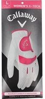 Callaway Womens X-Tech Glove,White/Pink,Large
