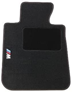 BMW 1M Embroidered Carpeted Floor Mats, black (2011+)