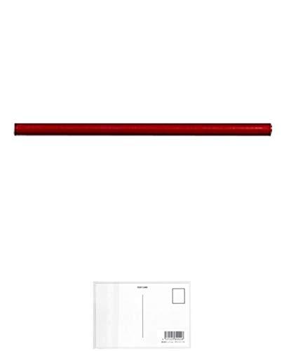 トンボ鉛筆 Tombow マーキングホルダ-替芯 赤 C-10DM25 工業用マーカー + 画材屋ドットコム ポストカードA