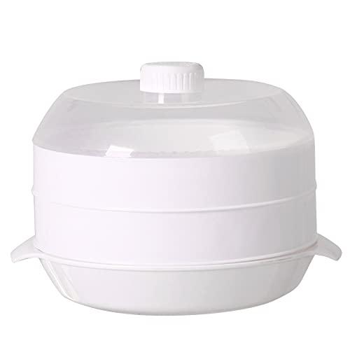 Soaying Vaporizador De Microondas Vaporizador Redondo De PláStico Horno De Microondas con Tapa Herramientas De Cocina, B