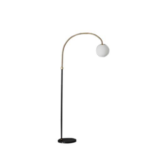 Lámparas de Pie Nordic Lámpara de vidrio esmerilado Pantalla táctil espesado mármol Base Plus interruptor de pie Pesca Vertical Negro de lámpara estándar 63' Lámpara de Piso