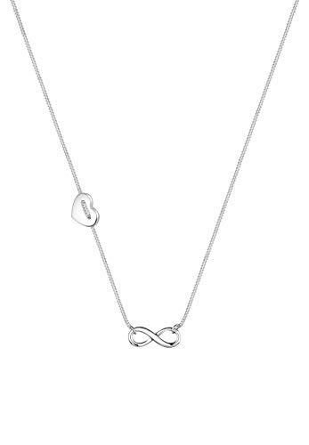 Elli Halskette Herz Infinity Unendlichkeit Symbol 925 Silber