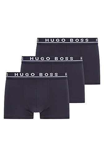 BOSS Herren Trunk 3P CO/EL Dreier-Pack Boxershorts aus Stretch-Baumwolle mit Logo am Bund,M,Blau (Open Blue 480)
