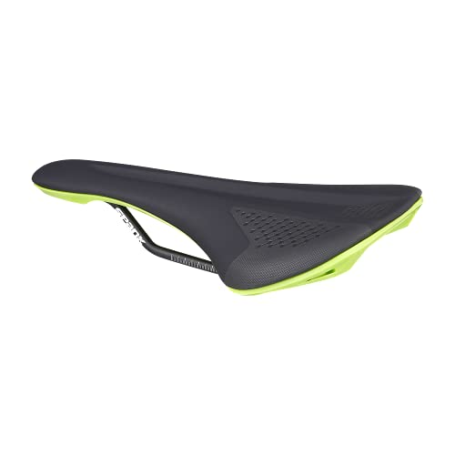 Spank Spike 160 Unisex Adult MTB Saddle (Black Green), Bicycle Seat for Men Women, Bicycle Saddle, Waterproof Seat with Ergonomic Zone Concept