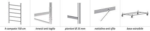Échafaudage hauteur de travail avec 8.90 m en acier série M5 Lux Made en Italy I SCEDIL