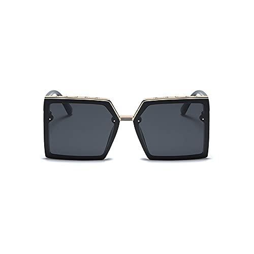 FEIHAIYANY Gafas de sol para mujer con marcos cuadrados grandes, adecuados para lentes polarizadoras de señoras, espejos de sombra que pueden bloquear eficazmente la luz del sol