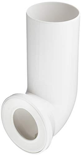 Sanitop-Wingenroth 21642 5 Anschlussbogen für Stand WC | Weiß | 90 Grad | WC, Toilette