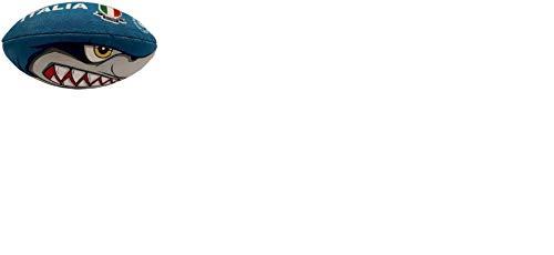 Mikado, Mini Pallone da Rugby Colore Blu, Modello Shark (squalo), 94803