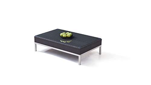 Table en polyrotin et INOX Silva 120 cm - Anthracite