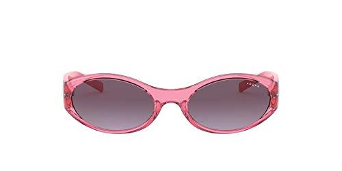Vogue Millie Bobby Brown X Eyewear Collection Lentes oscuros, Rosa Transparente/Violeta Degradado, 57 para Mujer
