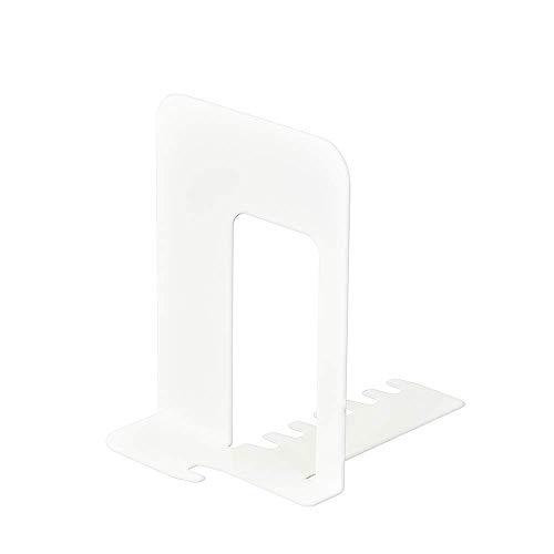(まとめ買い)カール事務器 システムキーブックエンド 小 ホワイト SKB-140-W 【×5】