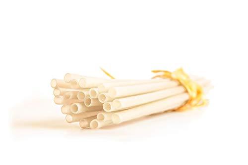 VietBeans Reisstrohhalme – Vollständige abbaubare Strohhalme in Lebensmittelqualität – Smoothie Halme – Cocktail-Strohhalm – Longdrink Trinkhalme – 30 Stück – Weiß