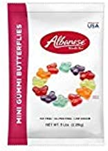 product image for Albanese Candy Mini Gummi Butterflies 80 Ounce (Pack of2), Gummi Candy Assorted Flavors: Grape, Strawberry, Orange, Blue Raspberry, Cherry, Green Apple; Gluten Free Dairy Free Fat Free Low Calorie