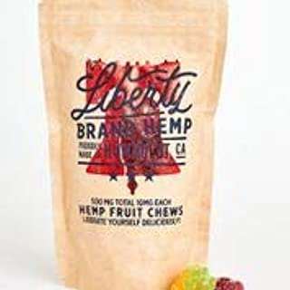 Liberty Real Hemp Gummies - 500mg Pure Extract Infused 10mg per Gummy. Anxiety and Insomnia-California Caregiver Formulated to Relieve Stress, Inflammation, Mood, Nausea, Arthritis and More!