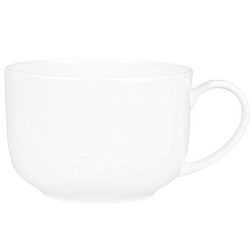 LDJING Taza De Cerámica Grande Taza Blanca Pura Horno De Microondas Porcelana...