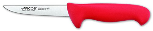 Arcos Serie 2900, Cuchillo Deshuesador, Hoja de Acero Inoxidable Nitrum de 130 mm, Mango inyectado en Polipropileno Color Rojo