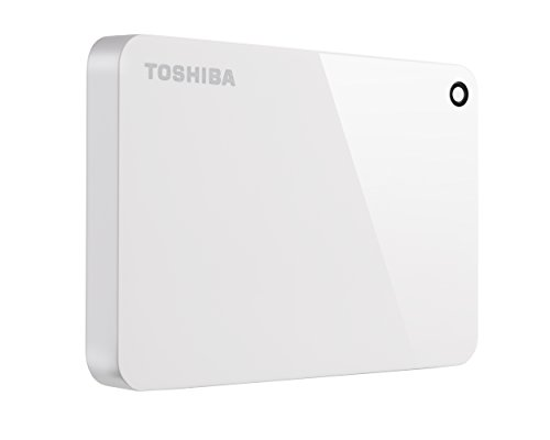 Toshiba Canvio Advance 1TB Portable External Hard Drive USB 3.0, White (HDTC910XW3AA)