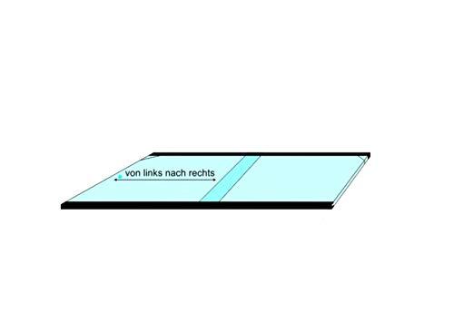 Salty Bee Aquarium Glasabdeckung 25l 25x40cm- Front kurz