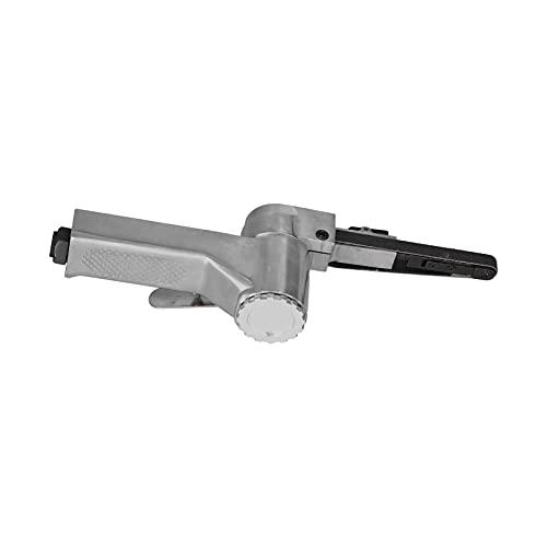 Mini Máquina Lijadora De Bandas, Lijadora De Banda Neumática Profesional De 16000 Rpm, Pulido De ángulo Ajustable 1/4 Con Papel De Lija Para Compresor De Aire Para Carpintería(americano)